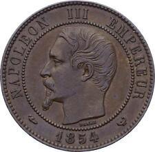 O2295 RARE 10 centimes Essai Napoléon III Visite Bourse 1854 SUPERBE ->MakeO