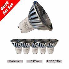 5 Einbauleuchten Paulmann LED 3,5W GU10 Einbaustrahler 230V Einbaulampe Strahler