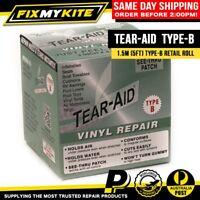 TEAR AID TYPE B 5ft 1.5M ROLL VINYL CAR SEAT POOL TOY AIR BED AWNING REPAIR KIT