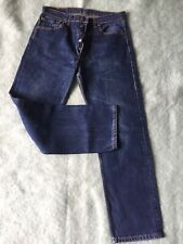 Mens Levis 501 XX blue straight leg denim jeans W 32 L 30