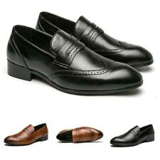 New Men Low Top Business Faux Leather Shoes Pointy Toe Oxfords Slip on Work 46 L