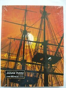 Vtg New Springbok Sea Fever Hallmark Jigsaw Puzzle 500 Pieces 1980's Ship Sunset