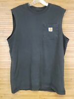 Carhartt Black Relaxed Fit Sleeveless T-Shirt Mens Size Large L