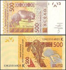 West African States 500 Francs, 2013, P-719Kb, UNC, PREFIX-K, Senegal