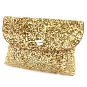 Borbonese Clutch bag Woman unisex Authentic Used C2886