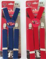 Boys Kids Children Party Racing Car Elastic Clip on Yback Suspender Brace Belt