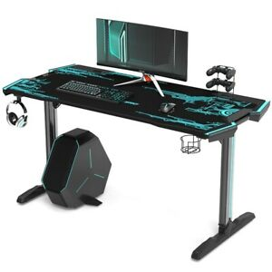 RGB Led Lights Height Adjustable Professional PC Computer Gaming Desks Table 202
