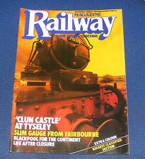 RAILWAY MAGAZINE OCTOBER 1988 - 'CLUN CASTLE' AT TYSELEY/LIFE AFTER CLOSURE