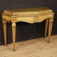 Console laccata mobile tavolo salotto italiano in legno stile antico Luigi XVI