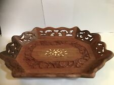 1970's Vintage/Retro Style Hand Carved Wooden Fruit Bowl/Tray