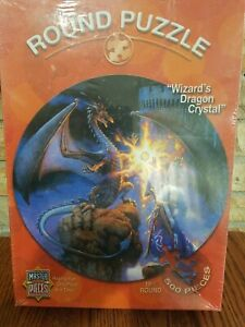 "Wizard's Dragon Crystal 500 Piece Puzzle 19.5"" Sealed"