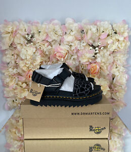 Dr Martens Leather Voss Animal Leopard Print,UK 4, BRAND NEW, Discontinued, RARE