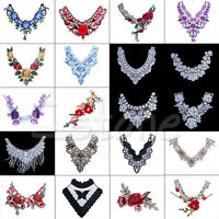Lace Embroidered Floral Neckline Neck Collar Trim Clothes Sewing Applique Hot