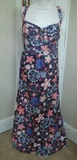 Mantaray Beautiful Pink & Grey Floral Maxi Dress ~Size 20~