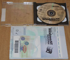 Microsoft Windows NT 4.0 Workstation + Service Pack 4 CD + Handbuch + COA CD1131