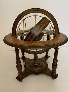 Armillary Sphere Mercator Globe Celestial Sphere On Wood Chair Astrology Italy