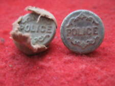 DETECTING FINDS 2 GEORGIAN POLICE BUTTONS ONE WITH CLOTH ON