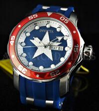 Invicta MARVEL Scuba Captain America Ltd. Ed. Day & Date White/Blue/Red Watch