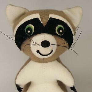 "Dakin Vintage Dream Pets 6"" Raccoon Shredded Clippings Plush"