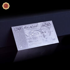 WR Rare British £50 Fifty Pound Note .999 Silver Foil Banknote Bank of England