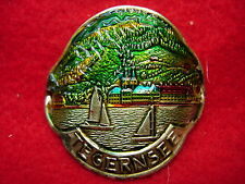 Tegernsee on der Wacht used badge stocknagel hiking medallion G4903