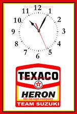 Heron Suzuki Racing Orologio da Parete. GRANDE regalo per meccanico, Biker, WORK-SHOP ecc.