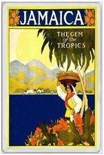JAMAICA - JUMBO FRIDGE MAGNET - KINGSTON RETRO VINTAGE STYLE TRAVEL HOLIDAY