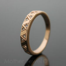 Rose Gold Plated Clear Coloured Costume Rings