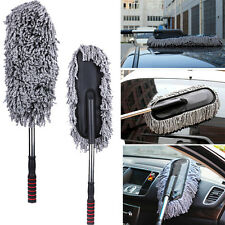 Car Microfiber Wash Cleaning Brush Duster Dust Wax Mop Telescoping Dusting Clean