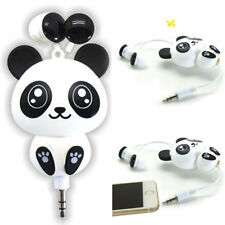 Cute Mobile Phone Headset Cartoon Panda Design Earphone Retractable Headphone