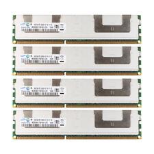 For Samsung 16GB 4x 4GB DDR3 1066MHZ PC3-8500R ECC Reg-DIMM Server Memory RAM #M