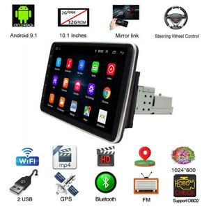 10.1in HD Touch Screen Car MP5 Player FM Stereo Radio 1DIN Quad Core 32G GPS 4G