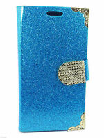 New Leather Glitter Book Flip Wallet Back Case Cover For Apple iPhone 4 4S 5C 5S