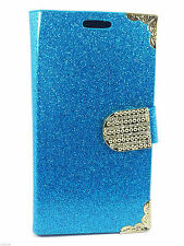 New Leather Glitter Book Flip Wallet Back Case Cover For Apple iPhone 4 4S 5 5S