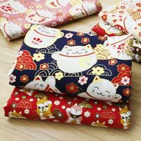 Japanese Cotton Fabric Cloth 100*150cm Kimono Fortune Cute Cat Dog Customizable