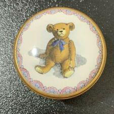 "Halcyon Days Enamel Trinket Box Smithsonian ""The Original Teddy Bear� 1903-Used"