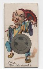 """1890s Tobacco Card """" Corea one Shot Value about 15 Cents """""""