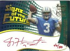 2002 BOWMAN SIGNS OF THE FUTURE Red Ink 40/50 rookie rc JOEY HARRINGTON Lions