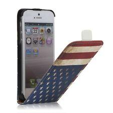 NOVADA Custodia per iPhone SE 5S 5 Custodia a Flip in Vera Pelle