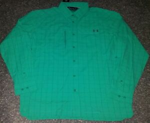 NWT MSRP $74 Mens Under Armour Heat Gear Loose Long Sleeve  Fish Sport Shirt