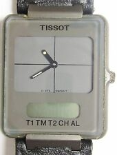 Tissot Twotimer Analog/Digil SS Quartz D375660G0P Watch Prof Service 6mth Wrrnty
