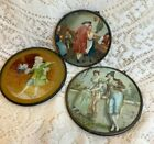 THREE miniature FLUE COVERS LOT #111 Victorian & Colonial Theme all for 1 price