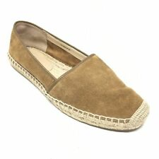 Women's Via Spiga Espadrille Flats Shoes Size 8M Brown Suede Casual Slip On U6