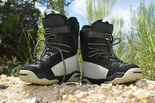 Salomon Snowboard Boots Ivy 6.5 Womens Autofit Winter Shoes Lace Up Black Tan