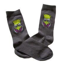 Socken grau dunkelgrau Motiv Socke Bart Simpson Simpsons Größe 39-42 39 / 42 NEU