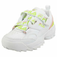 Fila Fast Charge Womens White Multicolour Leather & Synthetic Fashion Trainers