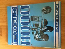 NEW HOLLAND FORD OPERATOR TRACTOR MANUAL 8000 operator's 8000