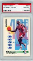 1991 SkyBox Basketball Michael Jordan #307 PSA 8 BULLS NM-MT HOF