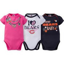 Chicago Bears NFL Baby Girl 3-Pack Love Bodysuit Set, 18 Months - NWT