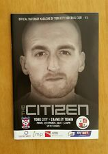 2015/16  YORK CITY v CRAWLEY TOWN  - NEW & UNOPENED